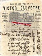 16- BARBEZIEUX- RARE LETTRE MANUSCRITE SIGNEE VICTOR SAUVETRE-MERCERIE-BONNETERIE-COUTELLERIE- 1895 - 1800 – 1899