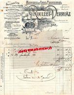 16- ANGOULEME- RARE FACTURE MANUSCRITE G. ROULLET- DERRUAZ- MERCERIE-CHAUSSURES-AUX PAVILLONS UNIS-49 RUE PERIGUEUX-1907 - Petits Métiers