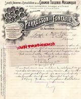 16- FONTAFIE- RARE LETTRE MANUSCRITE D. AUDOIN- PERRUSSON -GRANDE TUILERIE MECANIQUE-1910 TUILES TUILE - Petits Métiers