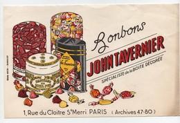 Buvard Bonbons John Tavernier Rue Du Cloitre St Merri Paris - Cake & Candy