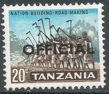 Tanzania. 1965 Official. 20c MH. SG O12 - Tanzania (1964-...)