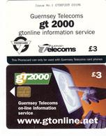 Guernsey Phonecard - £3 GT2000 (type1) - Superb Fine Used Condition - Ver. Königreich