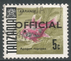 Tanzania. 1967 Official. 5c Used. 17mm Length SG O20 - Tanzania (1964-...)