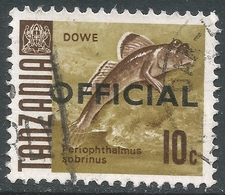 Tanzania. 1967 Official. 10c Used. 17mm Length SG O21 - Tanzania (1964-...)