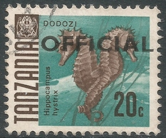 Tanzania. 1967 Official. 20c Used. 17mm Length SG O23 - Tanzania (1964-...)