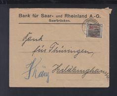 Dt. Reich Saargebiet Brief Bank Für Saar- Und Rheinland AG - Deutschland