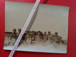 El Abiar (Cirenaica, Libia) Anno 1913 - Ufficiali Italiani E Dott. Iffet Bey / Libya Itlaian Officers - War, Military