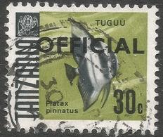 Tanzania. 1967 Official. 30c Used. 17mm Length SG O24 - Tanzania (1964-...)