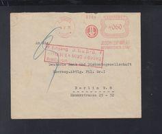 Dt. Reich Saargebiet Brief Freistempel Josef Levy WWE 1931 - Abstimmungsgebiete