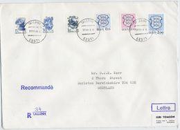 ESTONIA 1991 Registered Cover With Estonia And Soviet Union Combination Franking. - Estonia