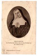 FAIRE-PART Décès SOEUR MARTHE  Abbaye De Saint Sauveur Le Vicomte - Obituary Notices