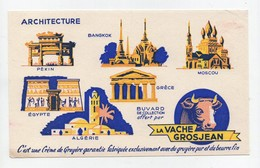 Buvard La Vache Grosjean Architecture Pékin Bangkok Moscou Egypte Grèce Algérie - Food