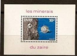 Zaire 1983 Ocbn°  Bloc 54  *** MNH Cote 10,00 Euro Minérais Diamant - Zaïre