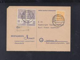 Alliierte Besetzung PK 1946 Darmstadt Nach Hamburg - Bizone