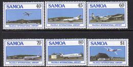 Samoa 1988 Opening Of Faleolo Airport Set Of 6, MNH, SG 773/8 - Samoa