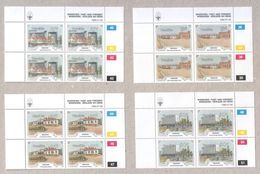 Namibia Four Sets Of MNH Stamps In Blocks 1990 Windhoek - Namibia (1990- ...)
