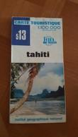 TAHITI + MOOREA CARTE ROUTIERE 513 IGN 1:100 000EME 1977 BON ETAT - Cartes Routières