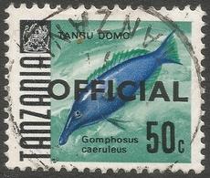 Tanzania. 1967 Official. 50c Used. 17mm Length SG O25 - Tanzania (1964-...)