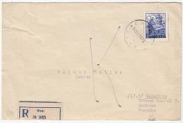 Yugoslavia, Letter Cover Registered Travelled 1950 Sivac To Glauchau (Sachsen) B180320 - 1945-1992 Sozialistische Föderative Republik Jugoslawien