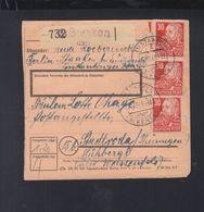 SBZ Paketkarte 1949 Staaken Falkensee - Sowjetische Zone (SBZ)