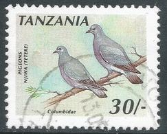 Tanzania. 1990 Birds. 30c Used. SG 809a - Tanzania (1964-...)