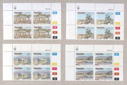 Namibia Four Sets Of MNH Stamps In Blocks 1990 Landscapes - Namibia (1990- ...)