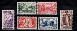 YV 27 à 32 N* (legere) Complete Cote 24 Euros Exposition Internationale De Paris - A.E.F. (1936-1958)