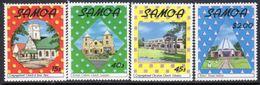 Samoa 1988 Christmas Churches Set Of 4, MNH, SG 813/6 - Samoa