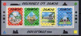 Samoa 1988 Christmas Churches MS, MNH, SG 817 - Samoa