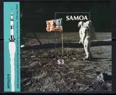 Samoa 1989 20th Anniversary Of 1st Moon Landing MS, MNH, SG 834 - Samoa