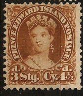 Canada, Prince Edward Island 1870, 4½ P Yellow Brown Unused No Gum - Prince Edouard (Ile)