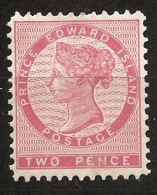 Canada, Prince Edward Island 1862, 2 P Perf 12-11½ Unused No Gum - Prince Edward (Island)