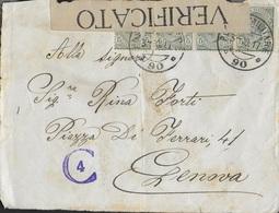 POSTA MILITARE - FRONTESPIZIO DA PM 90 (55a DIVISIONE)(p.5) 03.10.1917 PER GENOVA - CENSURATA - Poste Militaire (PM)