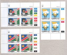 Namibia Four Sets Of MNH Stamps In Blocks 1990 Independence - Namibia (1990- ...)