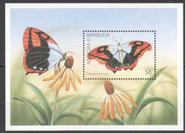 A293 ANTIGUA & BARBUDA FAUNA BUTTERFLIES 1BL MNH - Schmetterlinge