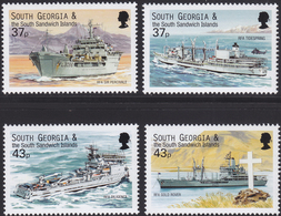 SOUTH GEORGIA And SOUTH SANDWICH ISLANDS 2001, Navy Ships MNH, Mi # 323-26 - South Georgia