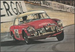 MGB In The 1964 Monte Carlo Rally - Golden Era Postcard - Passenger Cars