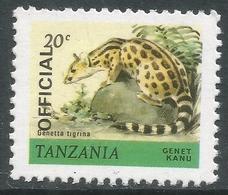 Tanzania. 1980 Wildlife. Official. 20c MNH. SG O55 - Tanzania (1964-...)