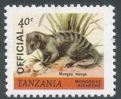 Tanzania. 1980 Wildlife. Official. 40c MNH. SG O56 - Tanzania (1964-...)