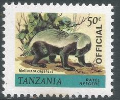 Tanzania. 1980 Wildlife. Official. 50c MNH. SG O57 - Tanzania (1964-...)
