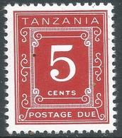 Tanzania. 1967 Postage Due. 5c MNH. P 14X13½ SG D1 - Tanzania (1964-...)