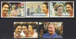 Samoa 1992 40th Anniversary Of Queen's Accession Set Of 5, MNH, SG 876/80 - Samoa