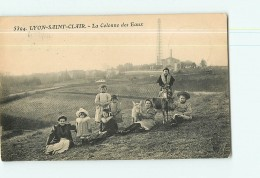 LYON SAINT CLAIR - La Colonne Des Eaux - Superbe Plan Animé -  2 Scans - France