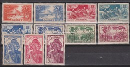 Guinée N° 125+126+131+132+133+136+137+138+141+142+144  Neufs   **+*tc - Unused Stamps