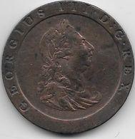 Grande Bretagne - Georges III - Penny - 1797  - Cuivre - Grande-Bretagne