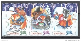 Ukraine 2001 Yvert 424-26, Ukrainian Tales - MNH - Ukraine