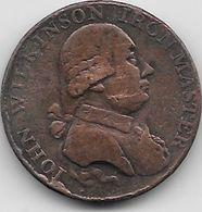 Grande Bretagne - Iohn Wilkinson Iron Master - 1792  - Cuivre - Grande-Bretagne