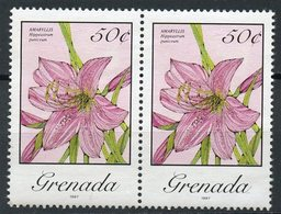 Grenada1987 50c Island Flowers Issue  #1291b MNH  Pair - Grenada (1974-...)