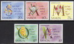 Samoa 1993 Christmas Carols III Set Of 5, MNH, SG 907/11 - Samoa