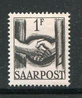 SARRE- Y&T N°233- Neuf Avec Charnière * - Ungebraucht
